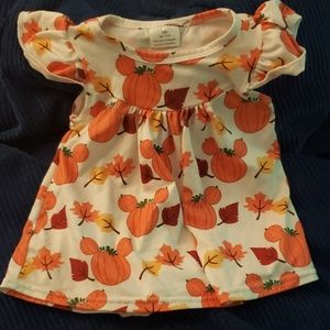 Fall Mickey mouse pumpkin dress